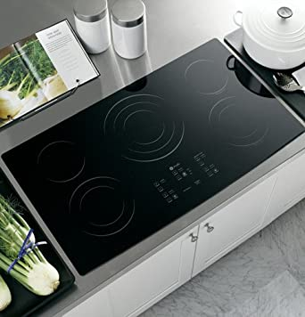 "GE PP975BMBB Profile 36"" Black Electric Smoothtop Cooktop"