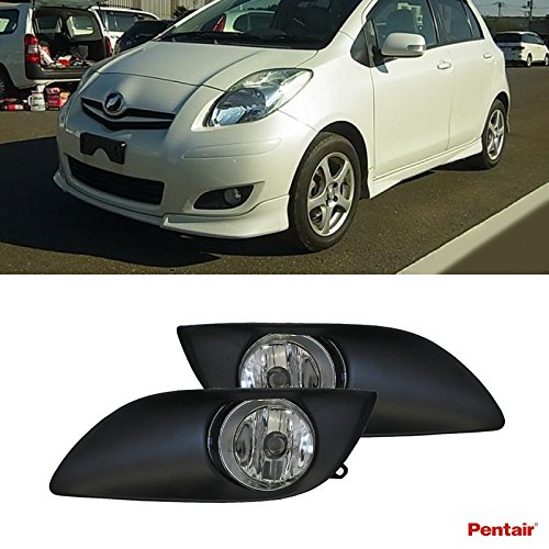 Pentair 2pcs Aftermarket JDM Clear Lens Fog Lights Kit With Light Bulbs+Cover+Switch+Wiring Harness+Relay+Bracket & Necessary Mounting Hardware For 2009-2011 Toyota Yaris 3DR/5DR Hatchback (Relay Mounting Bracket compare prices)