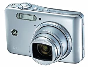 GE General Electric E1250TW Digitalkamera (12 Megapixel, 5-fach opt. Zoom, 7,6 cm (3 Zoll) Touchscreen, Auto Panorama, HD-Video, HDMI) silber