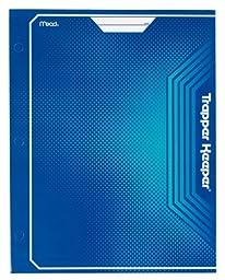 Mead Trapper Keeper 2-Pocket Portfolio, 12 x 9.38 x .12 Inches, Blue (72646)