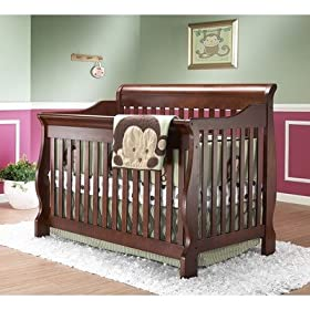 Amelia Elite 4-in-1 Convertible Crib in Oak Cider