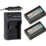 DSTE® 2x EN-EL1 Battery + DC09 Travel and Car Charger Adapter for Nikon Coolpix 4300 4500 4800 5400 5700 8700 880 885 99 E880 Konica Minolta DG-5W Dimage A200 Camera as NP-800