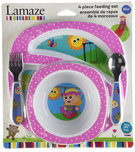 Lamaze My Friend Emily-A-Lot 4 Piece Feeding Set (Discontinued by Manufacturer) - 1