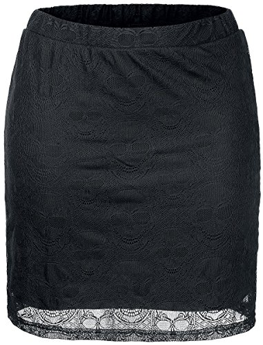 Black Premium by EMP Skull Lace Skirt Gonna nero L