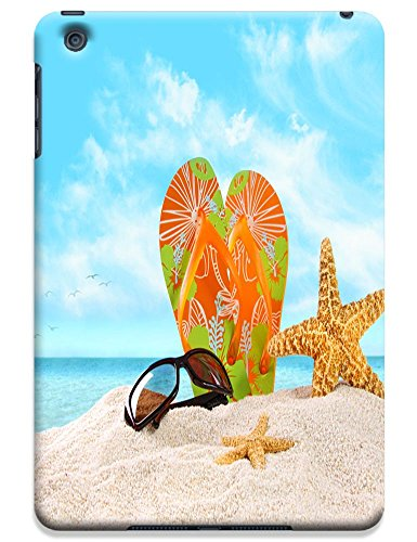 Fantastic Faye Cell Phone Cases For Ipad Mini No.9 The Fashion Design With Warm Sunshine Beach Blue Sky Clean Water Sea Star Beautiful Shell Slipper