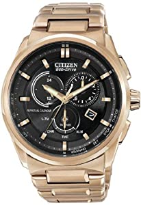 Mens Watch Citizen BL5483-55E Eco-Drive Rose Gold Tone Stainless Steel Case and