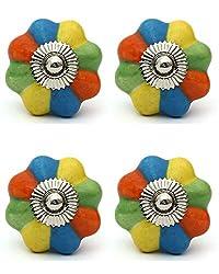 Knobs & Hooks FBK-287 Ceramic Cabinet Knob; Multi; (Set of 4 pieces)