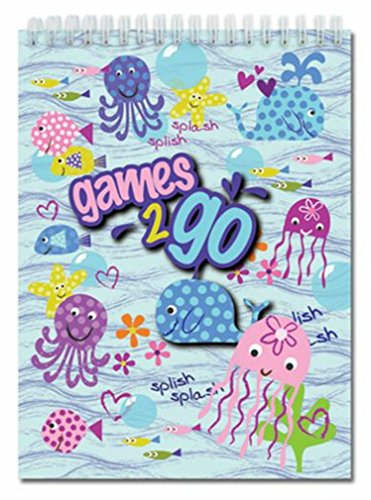iscream Splish Splash Games-2-Go 6 Game Activity Book with 3D Cover - 1