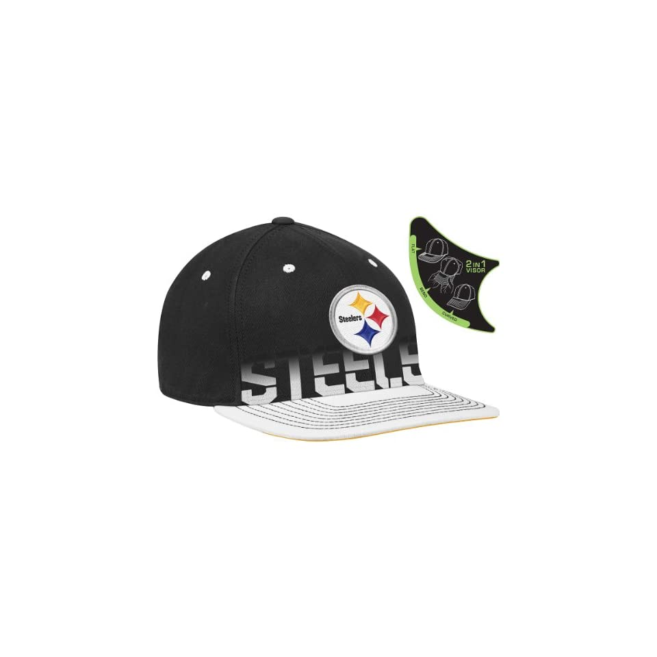 Pittsburgh Steelers Sideline Player Pro Shape Flat Brim Flex Hat on ... 8c53b718e