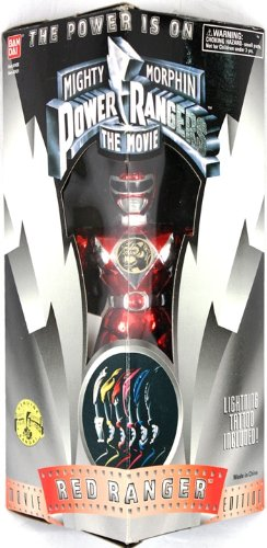 Red Ranger Mighty Morphin Power Rangers the Movie Action Figure by Bandai (Power Ranger Barbie compare prices)