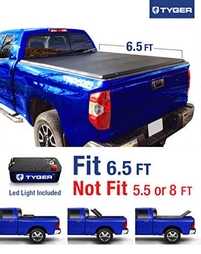 Tyger Auto TG-BC3T1033 Tri-Fold Pickup Tonneau Cover (Fits 07-13 Toyota Tundra (with/without utility track) 6.5 feet (78 inch)) (Toyota Tundra Bed Cover compare prices)