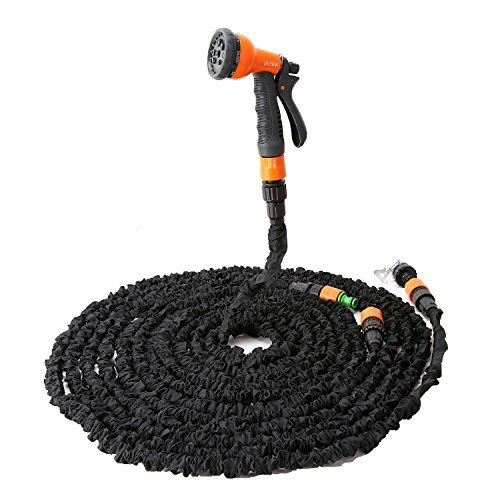 Expandable hose with nozzle sprayer by iartker extra long 100 feet hose increadibly easy to Expandable garden hose 100 ft