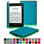 Fintie Kindle Paperwhite SmartShell Case - The Thinnest and Lightest Leather Cover for Amazon Kindle Paperwhite (Both 2012 and 2013 Versions with 6 Display and Built-in Light), Blue