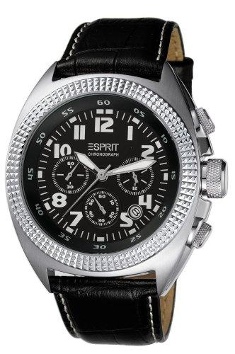 Esprit A.ES900491001 - Reloj para hombres, correa de cuero color negro