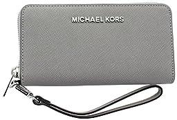 MICHAEL Michael Kors Women\'s Jet Set Travel Phone Case, Pearl Grey, One Size