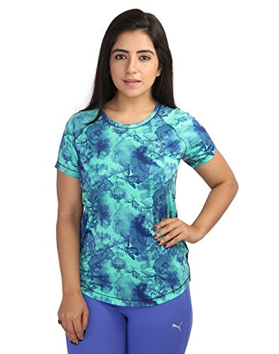 Puma Women Printed Blue Tshirts