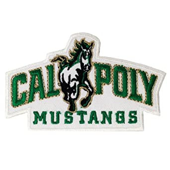 Amazon.com: Cal Poly Mustangs Logo Embroidered Iron Patches: Clothing
