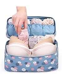 Orpio Travel Underwear Panties Bra Pouch Organizer, Multi