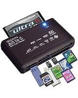 Lecteur de carte USB Noir compatible avec une grande majorités des cartes mémoires