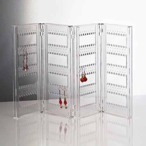 Foldable Acrylic Earring Screen - Holds up to 144 Pairs of Earrings