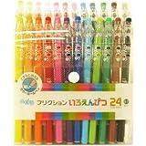Pilot FriXion Erasable Gel Ink Pens, 0.7mm, Assorted Colors, 24/Pack (LFP312FN-24C)
