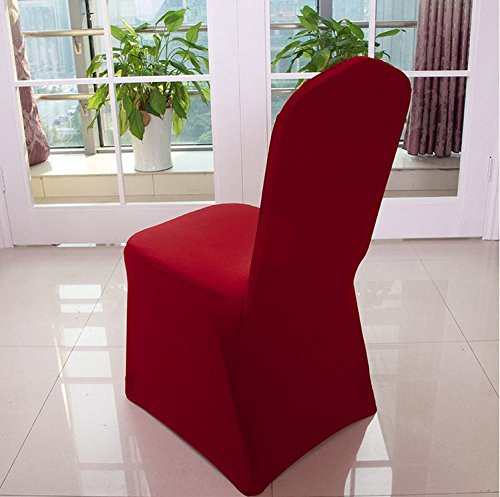 Avril Hui Wine Red Stretch Spandex Chair Cover For Wedding