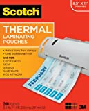 Office Product - Scotch Thermal Pouches 8.9 x 11.4 Inches, 100-Pack (TP3854-100)