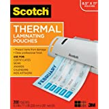 Scotch Thermal Pouches 8.9 x 11.4 Inches, 100-Pack (TP3854-100) ~ Scotch
