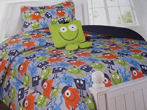 Kids Collection Little Monsters Comforter Set with Decorative Pillow Twin Size Reviews Bedding ...
