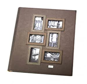 Kleer-vu Photo Album Leather Collection, Holds 400 4x6 Inches Photos, 5 Per Page - Copper