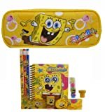 Spongebob Pencil Case and Stationery Set - Yellow