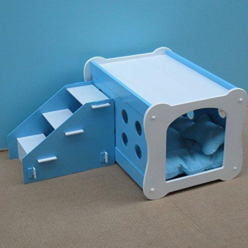 chambre-double-pour-animaux-de-compagnie-avec-escalier-compose-solide-bois-animal-house-dog-kennel-x