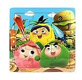 Ularma Lindo Juguetes de madera de los cabritos Jigsaw para la educaci�n de los ni�os y Puzzles juguetes de aprendizaje (multicolor1)