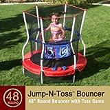 Skywalker Round Jump-n-Toss Trampoline - Red (48) 13873768Skywalker Square Little Animals Trampoline -
