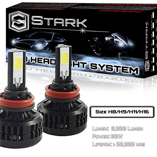 80W All-in-One 360° LED Headlights - Cool White 6000K 6K - Low Beam/ High Beam/ Fog Light Bulbs - Super White - 8,000 Lm - H8 / H9 / H11 (H11 80w Led Headlight Bulb compare prices)