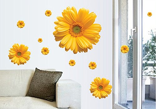 Daisy Romantic Wedding Room Bedroom Wall Stickers front-874818