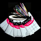 15 pcs Nail Tips Guide Various Styles & Decorative Stripping Tape For Nail Art