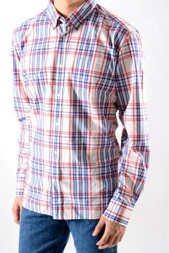 メゾンキツネ (MAISON KITSUNE) トリコロールチェックボタンダウンシャツ【43】【並行輸入品】