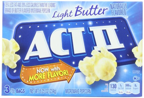Act Ii Popcorn, Light Butter, 3 Count (Pack Of 12) front-63242