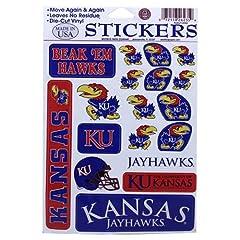 Buy Kansas Jayhawks Team Vinyl Stickers by Football Fanatics