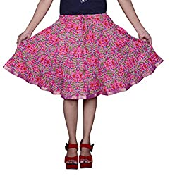 Pezzava Beautiful Cotton Printed Multti S.Skirt