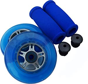 BLUE Replacement Razor Scooter WHEELS, BEARINGS, GRIPS by TGM Skateboards