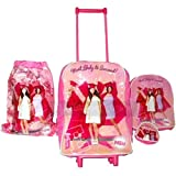 High School Musical 4 Piece Luggage Set Travel Case Swim Bag Back Pack & Purse