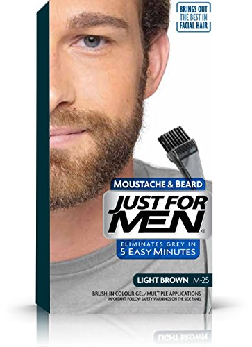 Just For Men Colour Gel For Beards, Moustaches And Sideburns Natural Light Brown