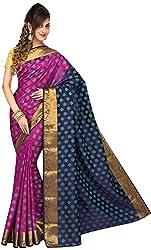Evila Women's Cotton Saree (RSE-97, Pink)