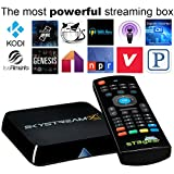 2015 SkyStreamX 4 Quad Core Android 4.4 Smart TV Box with FREE Air Mouse by STBGear - KODI Helix 14.2 Addons Preloaded - Streaming Internet Media Player