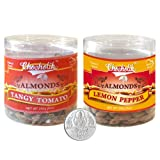 Chocholik Dry Fruits - Almonds Tangy Tomato & Lemon Pepper With 5gm Pure Silver Coin - Diwali Gifts - 2 Combo...