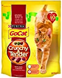 Go-Cat Crunchy and Tender Beef, Chicken and Vegetable Dry Cat Food 800 g (Pack of 4)