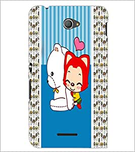 PrintDhaba Cartoon D-3380 Back Case Cover for SONY XPERIA E4 (Multi-Coloured)