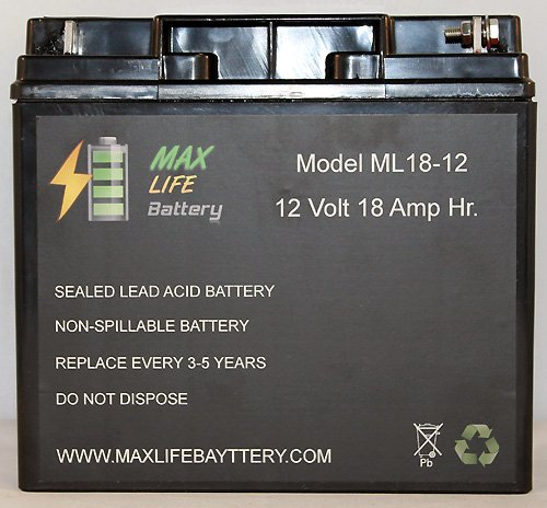 Ml18-12 - 12V 18Ah Rechargeable Battery For Champion Generator 9000 7000